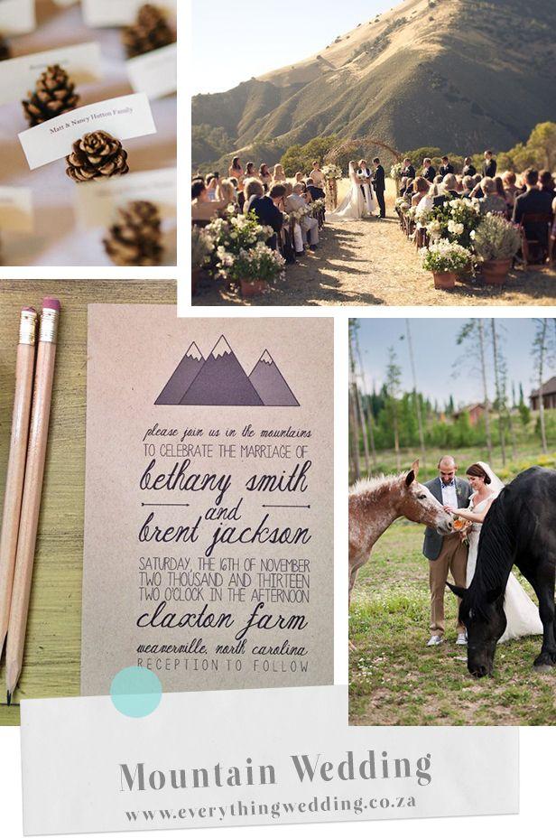 mountain wedding inspiration at http://blog.everythingwedding.co.za/mountain-wedding/
