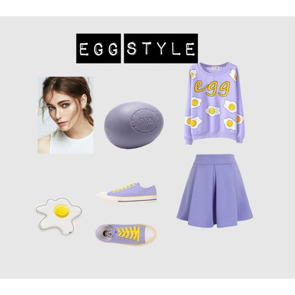 Egg by edithtoth on Polyvore featuring Chicwish, Tosca Blu and Anya Hindmarch