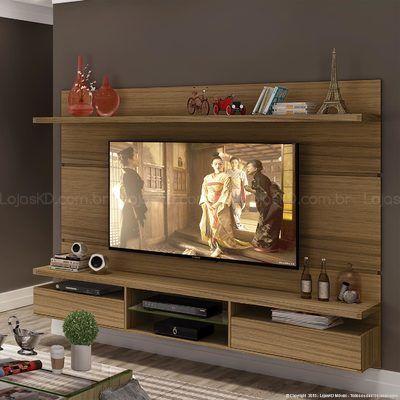 Home Suspenso para TV até 60 Polegadas Livin 165 x 220 x 35 Macchiato - HB Móveis