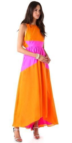 TIBI- Featherweight Sandwashed Long Dress #r29summerstyle
