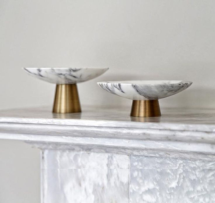 """Kratyr"" handmade, marble and cast bronze bowls, designed and produced by #TwoIsCompany"