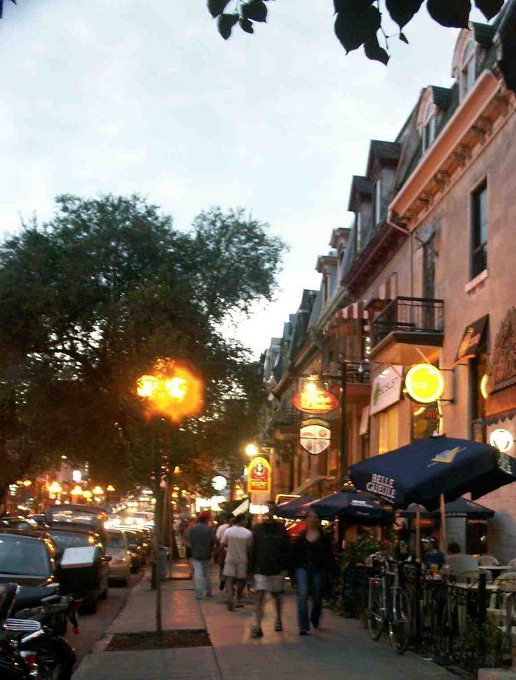 Montreal, Canada- miss walking the streets with Nicholas stopping every 45min for a drink break.