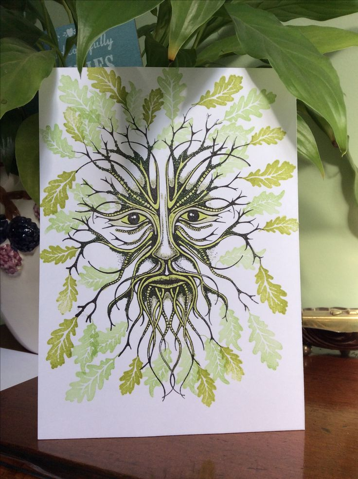 Lavinia New Green Man large stamp