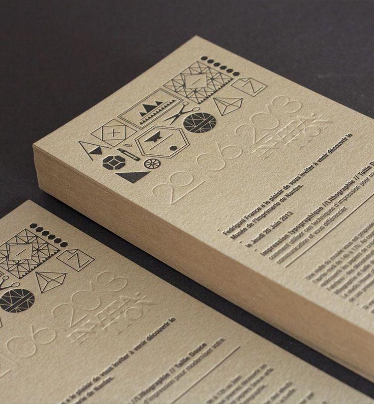 invitation letter for judging an event%0A Carton invitation  u     Fedrigoni  u     Letterpress   Impression typographique    D  bossage