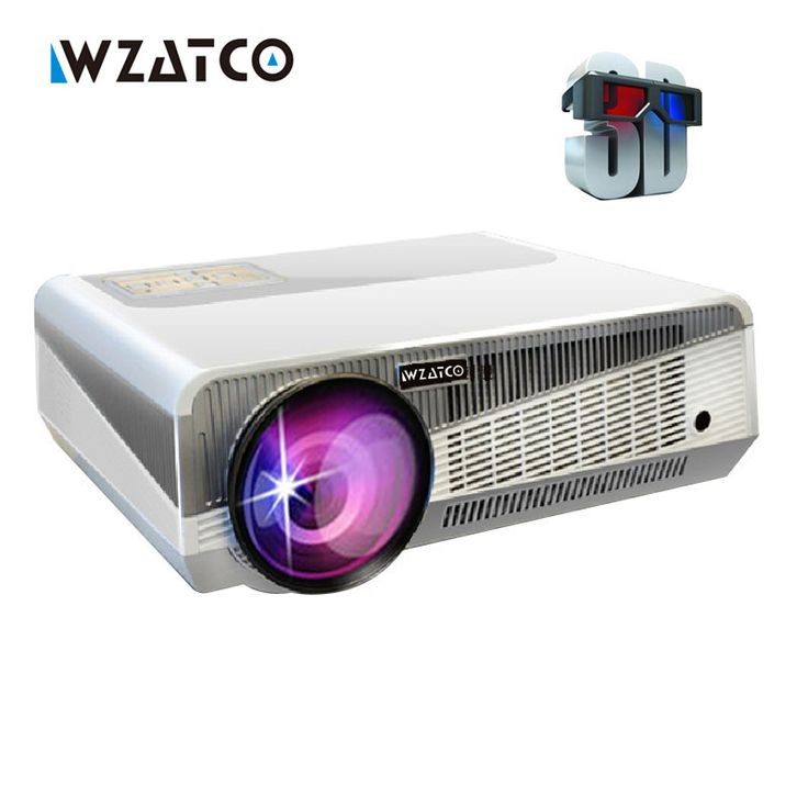 ==> [Free Shipping] Buy Best Hot sale Full HD 5500lumens Android 4.4 WiFi RJ45 1080P Home Cinema Video LED Portable Overhead 3D projection Projector proector Online with LOWEST Price | 32347346386