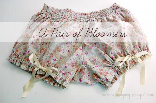 Sewing a Pair of Bloomers: A Bachelorette Gift