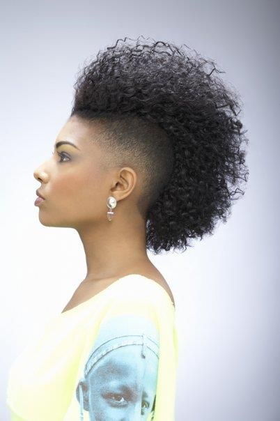 Admirable 1000 Images About Frohawk Hairstyles On Pinterest Black Women Short Hairstyles For Black Women Fulllsitofus