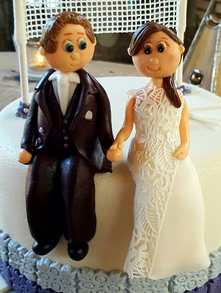 fondant wedding couple, handmade