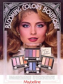"""Kim Alexis for Maybeline.. long before it became the cooler, """"Maybeline New York"""".  Every girl had a few of these pallets!"""