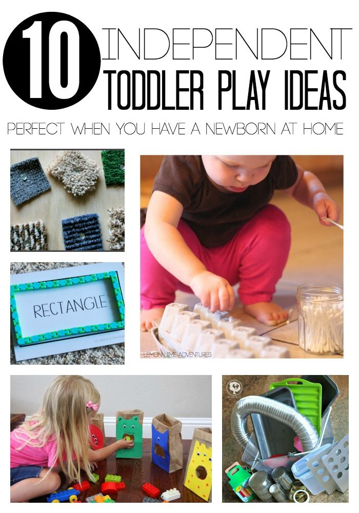 10 independent toddler play ideas | Perfect for transitioning from 1 baby to 2 or taking care of a toddler with a newborn at home!