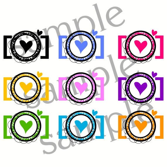 Items similar to INSTANT DOWNLOAD 1 zip file- Clip Art Personal Small Commercial - hand drawn doodle camera graphic Designs photography logo clipart 1114 on Etsy