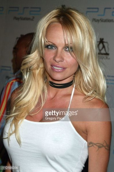 Pamela Anderson during 2003 MTV Video Music Awards Playstation 2 and Guy Oseary After Party at The Four Seasons Restaurant in New York City New York...