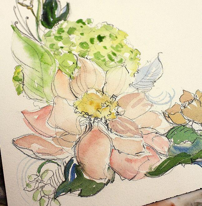 watercolor: Tattoo Ideas, Watercolor Techniques, Watercolor Tattoo, Watercolor Flowers, Flowers Watercolor, Watercolor Cards, A Tattoo, Watercolor Floral, Floral Watercolor