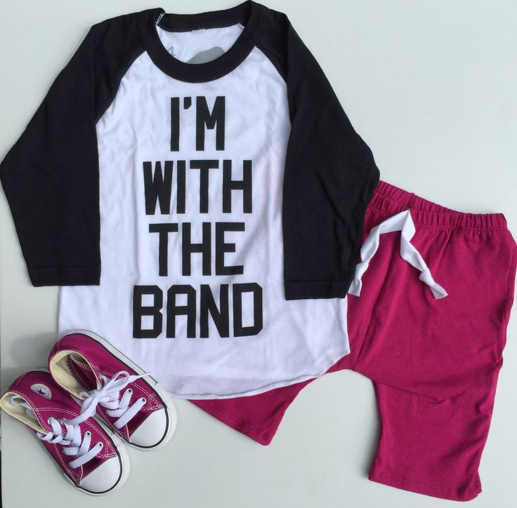 I'm With The Band Tee by Hatch For Kids - Lounge Shorts by June