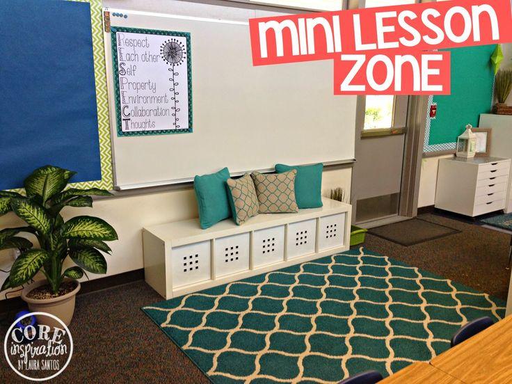 Core Inspiration by Laura Santos: Classroom Tour: Mini Lesson Meeting Area