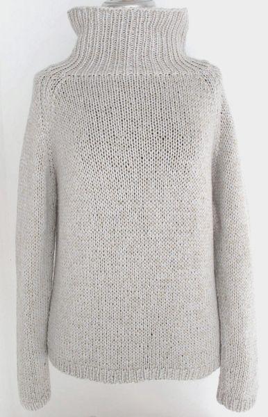 oversized sweater Pullover mit breitem Stehkragen