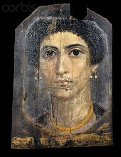 Mummy portrait of a young woman, place?, ca AD 70 (Cairo, Egyptian Museum)