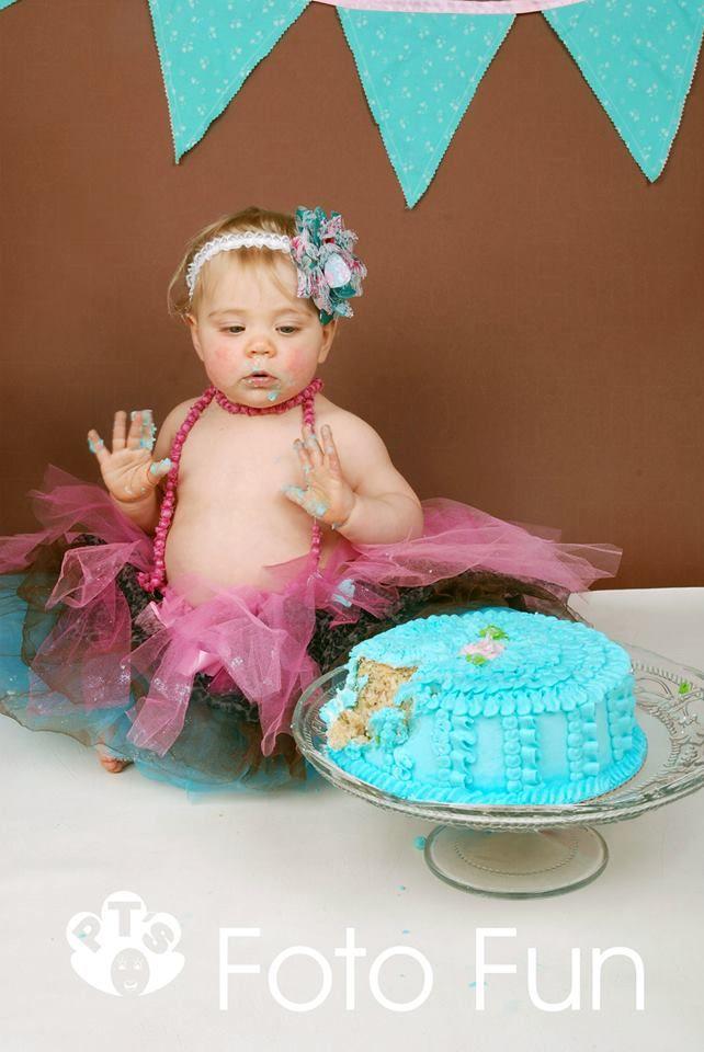 Beautiful Chloe and the cake