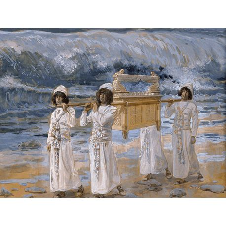 Reprodukcje obrazów James Tissot The Ark Passes Over the Jordan - Fedkolor
