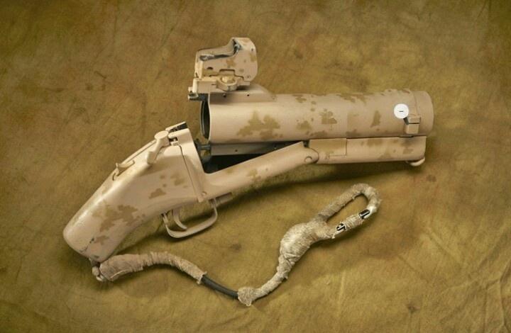 Cut down M79 used by DEVGRU.  PIRATE GUN!