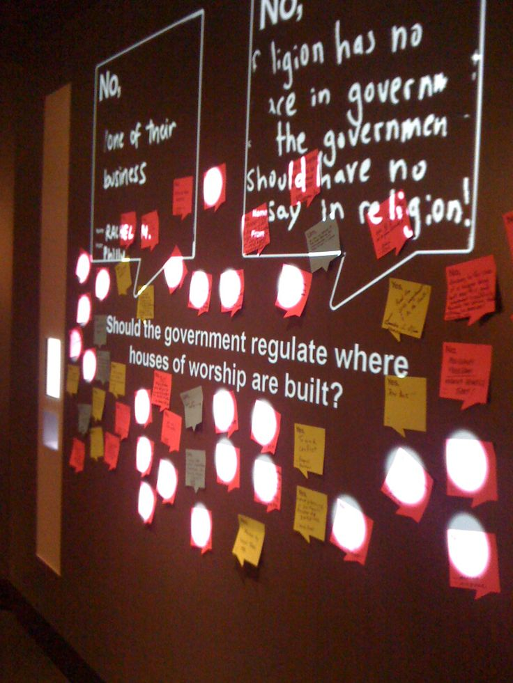 Responding to questions asked by the new NMAJH in Philadelphia with stickies: Yes, No and Um...