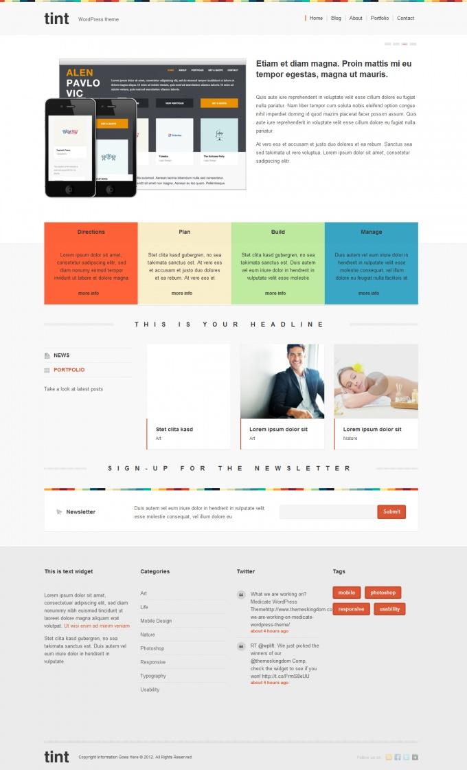 Tint - Portfolio wordpress theme