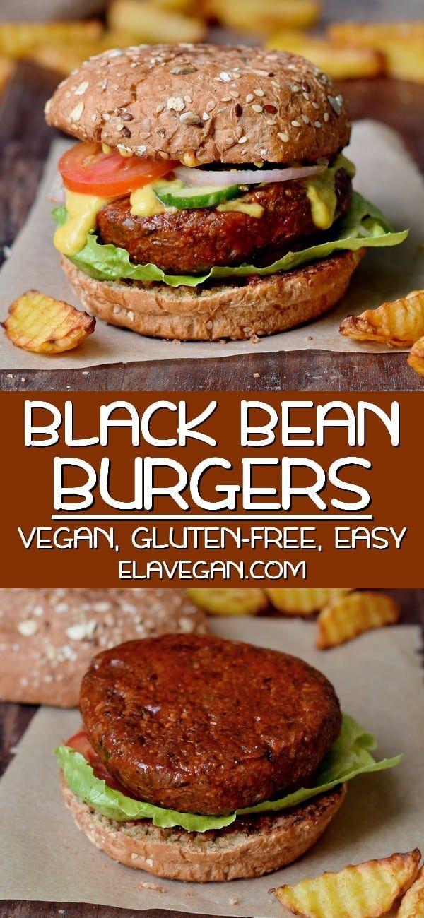 Vegan Black Bean Burger In 2020 Easy Veggie Burger Veggie Burgers Recipe Vegan Burger Recipe