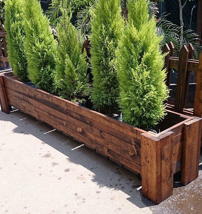 Pin de best garden en jardineras de madera pinterest - Jardineras de exterior ...
