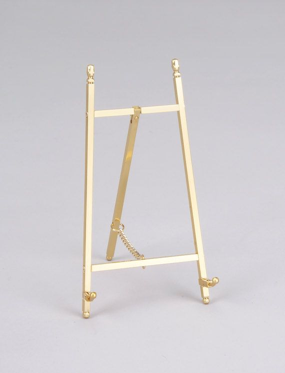 Decorative Brass or Nickel Plated Easel Display Stand 6.75