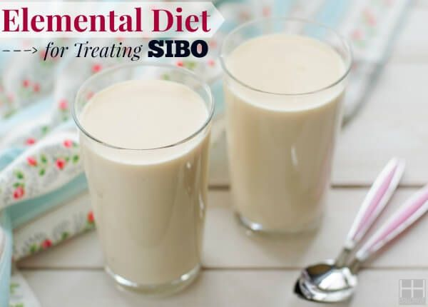 How to do an elemental diet for treating SIBO or GI disorders; elemental formulas, recipes, symptoms, and surviving without food