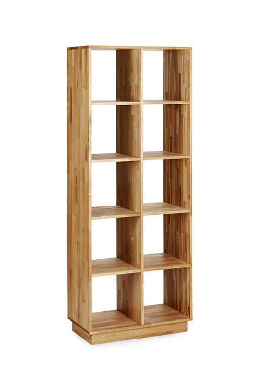 LAXseries Solid Wood Bookcase With Ten Square Cubbies Divided Into Two  Columns And 5 Rows.
