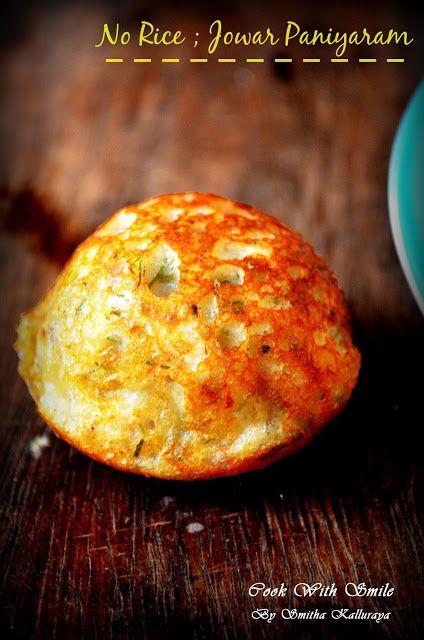 JOLADA PADDU / JOWAR ( SORGUM ) PANIYARAM / JOLADA PADDU / JOWAR ( SORGUM ) PANIYARAM / JOWAR APPE RECIPE | Cook With Smile #jowar #Sorgum #paniyaram #glutenfree #glutenfreerecipes #indianbreakfast