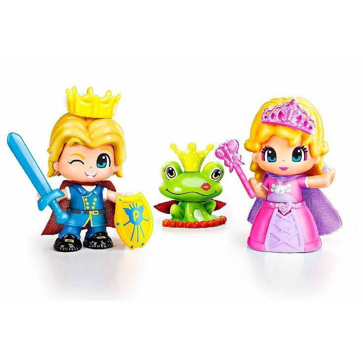 Pin y Pon - Pack Princesa y Príncipe, el príncipe con su espada y la princesa con su varilla, la rana y accesorios. El príncipe y la princesa de Pin y Pon llegan para hacer tus cuentos realidad.