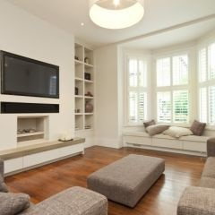 perfect layout for our new living room - loving the bay window