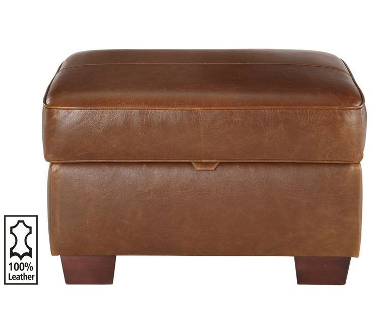 Buy Heart of House Salisbury Leather Storage Footstool - Tan at Argos.co.uk - Your Online Shop for Footstools, Living room furniture, Home and garden.