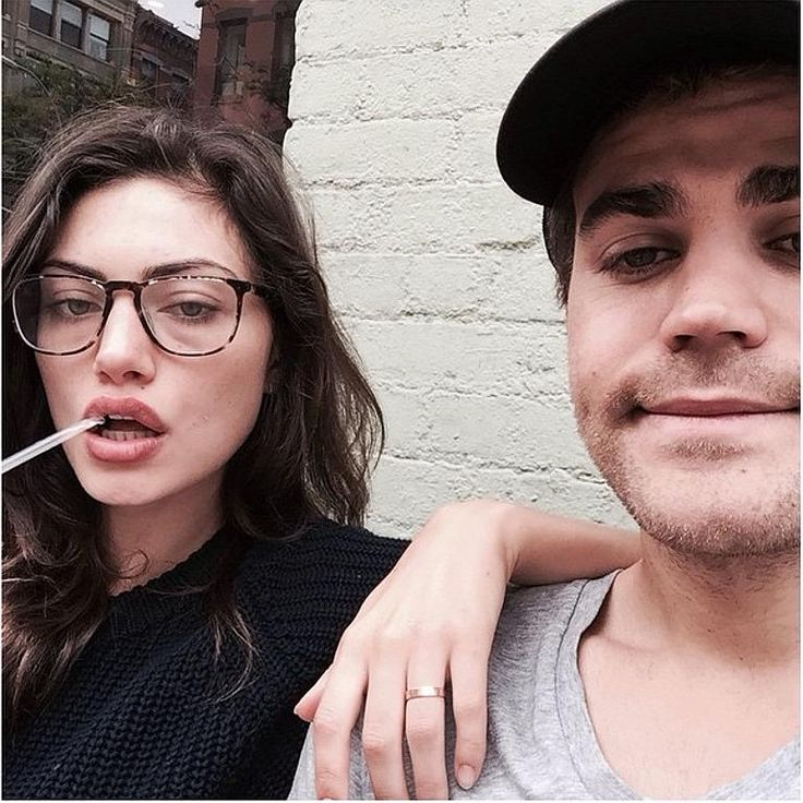 "Phoebe Tonkin with boyfriend Paul Wesley ... ""It's # ..."
