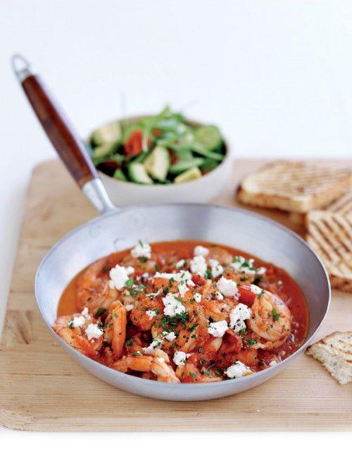 Recept: Griekse garnalenschotel