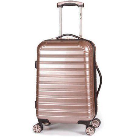 iFLY Hard Sided Luggage Fibertech, 20 inch, Gold