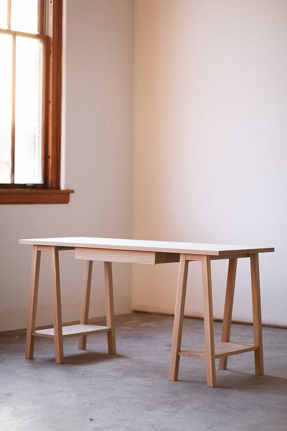 Saw Horse Desk by hedgehouse