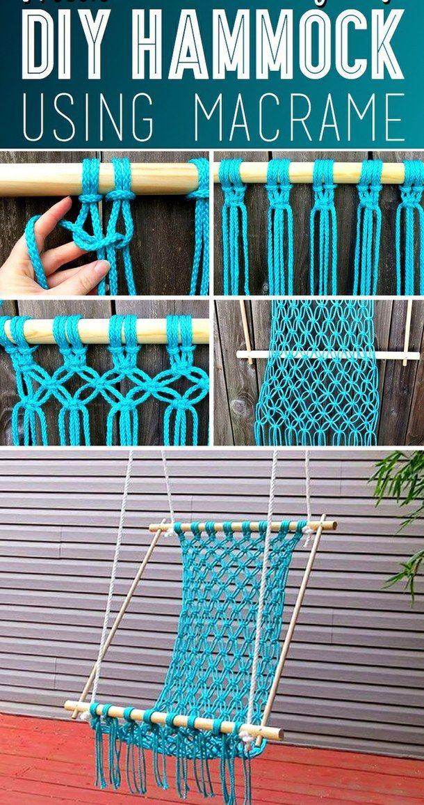 1000 ideas about homemade hammock on pinterest diy for Diy macrame hammock