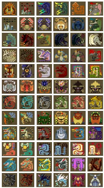 pickle-kun:  hunters—guild:  Large Monster Icons from MH4U!