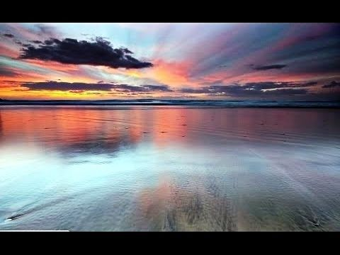 Coucher de soleil incroyable. Seule la mer et le ciel.  à peindre la mer au couteau à l'huile - YouTube