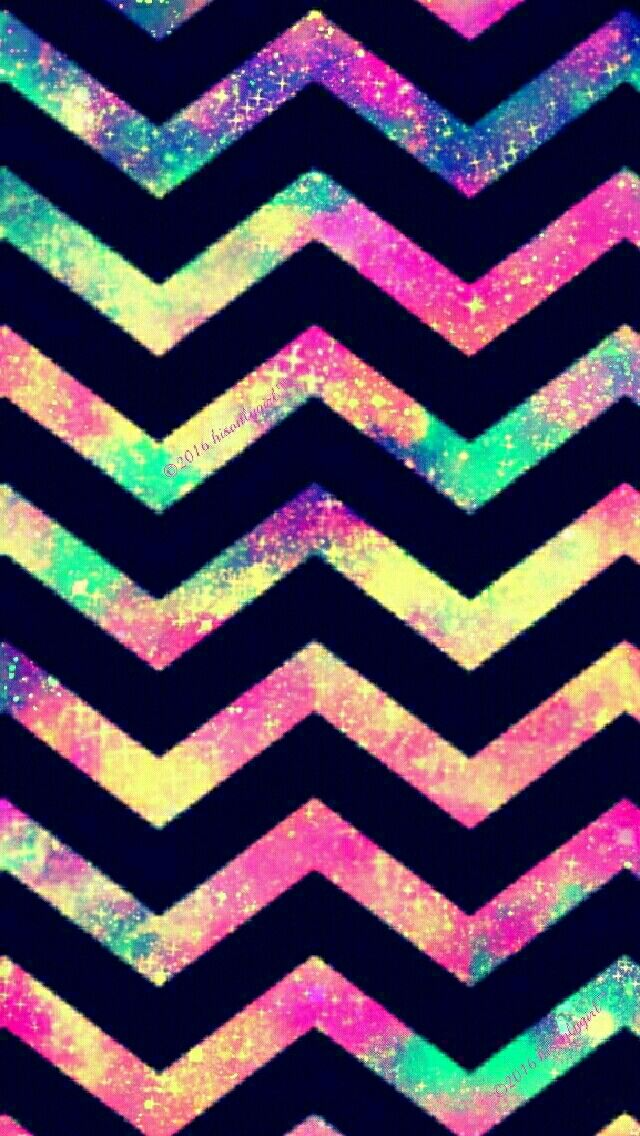 Colorful Chevron galaxy iPhone/Android wallpaper I created for the app CocoPPa!
