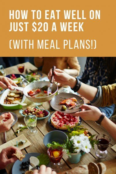 How to Eat Well on Just $20 a Week | Meal Plans | Healthy Budget Meals