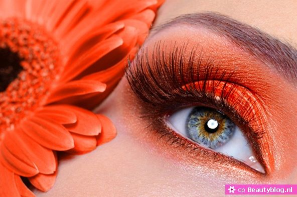 stijlvolle oranje make-up