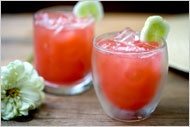 """Watermelon cucumber punch. From """"A Good Appetite - Nonalcoholic Cocktails Are in Season"""""""