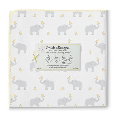 Swaddle Designs Elephants & Chickies Blanket US/Can 6/11