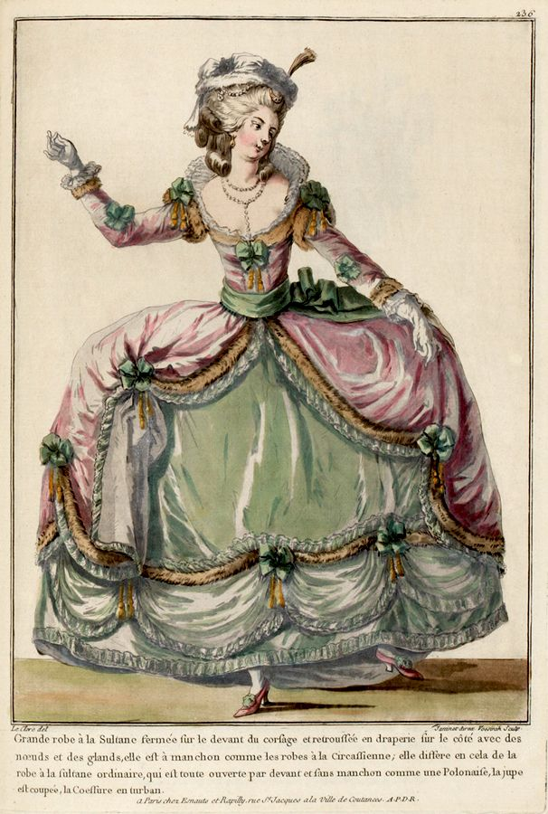 Ekduncan my fanciful muse c1774 french fashion plate in for French rococo fashion