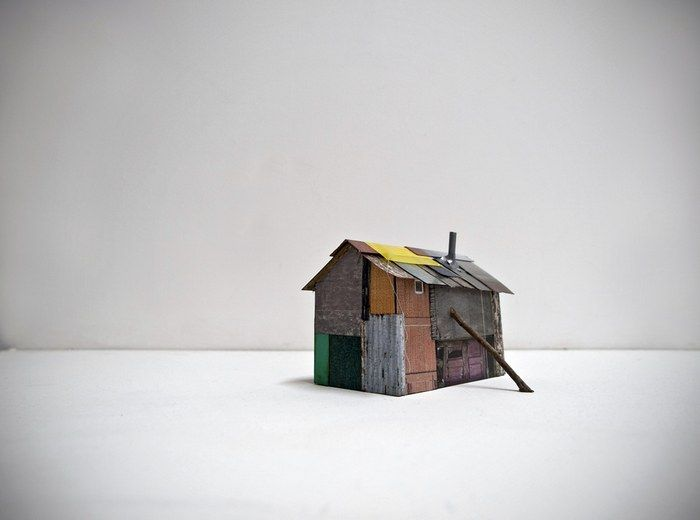 gimme shelter hut 17 - Conceptual Mixed Media by Artist Antonia Dewhurst