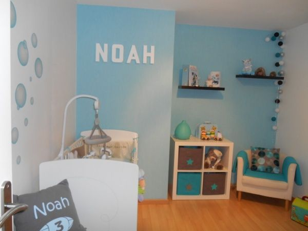 38 best images about chambre enfant on pinterest clothes for Chambre garcon bleu turquoise